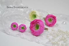 Ring Ranunculus (buttercup asian) ✿ Polymer clay