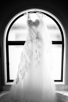 Hanging wedding dress - on the 'must have' wedding photos list! // Jade Norwood Photography.
