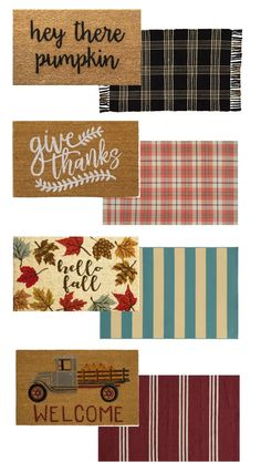 Layered Doormats for Fall Layered doormat ideas to make your doorway unforgettable this fall! These budget-friendly combos will add charm and coziness to the front of your house. Front Door Mats, Front Door Decor, Fall Front Doors, Front Porch Fall Decor, Fromt Porch Ideas, Fall Home Decor, Autumn Home, Porch Mat, Fall Doormat