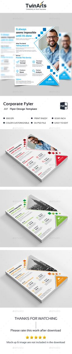 #Flyer Template - Flyers Print Templates Download here: https://graphicriver.net/item/flyer-template/19361380?ref=alena994