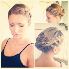 My up do for my dance recital. French braided on both sides, twisted and pinned into a pretty bun