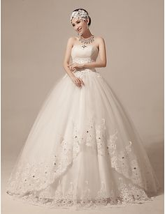 Ball Gown Strapless Floor-length Tulle Wedding Dress (HS237) - save up to 80% Off at LightintheBox Coupon & Promo Codes.