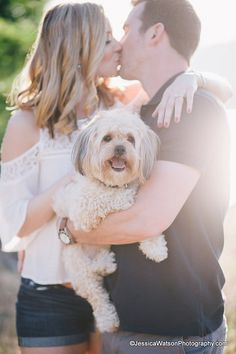 Engagement session with the couple's dog by Jessica Watson Photography