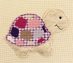 Stickmuster - Schildkröte Bernadette Doodle Stickdatei - ein Designerstück von feinliebshop bei DaWanda