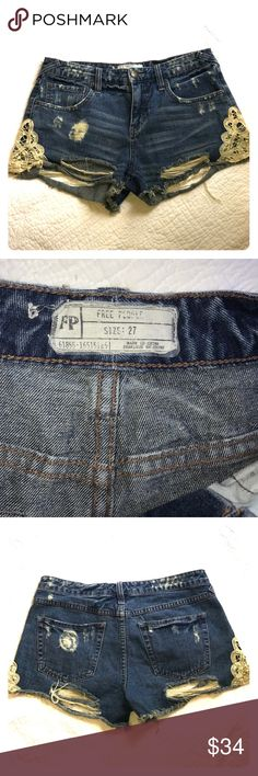 """Free People distressed denim shorts -27 Distressed 