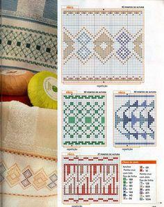 De Fio a Pavio, ponto cruz, patchwork, feltro e muito mais: BARRADOS EM PONTO CRUZ