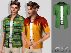 open shirt with blouse underneath for your sims , enjoy :) Found in TSR Category 'Sims 4 Male Everyday' Sims 4 Male Clothes, Sims 4 Clothing, Men Clothes, Male Clothing, Sims 4 Mm, My Sims, Sims 4 Stories, The Sims 4 Download, Jumper Shirt