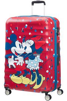 American Tourister Wavebreaker Disney 4-wheel 77cm large Spinner suitcase Minnie Loves Mickey