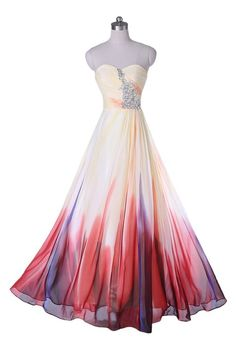 Sunvary 2015 New Gradient Chiffon Formal Bridesmaid Dresses Prom Cocktail Homecoming Gowns Sweety 16 Pageant Dance MaxiUS Size 12- Gradient