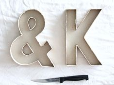 use letters from cardboard for mold