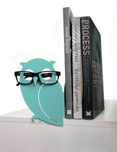 Cool owl bookend and eyeglasses holder Pinned by www.myowlbarn.com