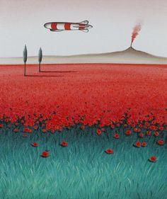 Dimitris Yeros - Landscape, 2003, Oil on canvas