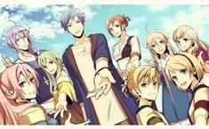Kaito,Meiko,Rin,Len,Luka,Gakupo,Gumi,IA,Mayu @ Vocaloid ~ Shukufuku no Messiah to AI no Tou ~