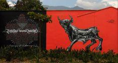 Street art de Teck one y Bikismo, en Medellín - Colombia Fotos de @medellinstreetart y @mickwho