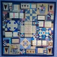 My blue quilt.. Finished 2008. (Leanne's house)