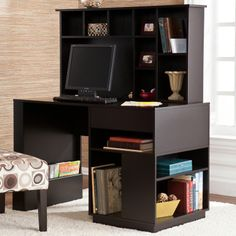Colbert Computer Desk with Hutch