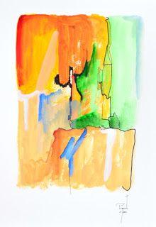coisas de pintura:  Acrylic on paper - 2016 - portugal