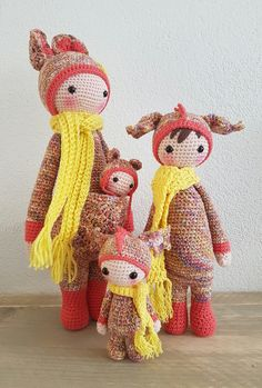 Kira the kangaroo with some mod friends made by Linda K. / crochet pattern by lalylala