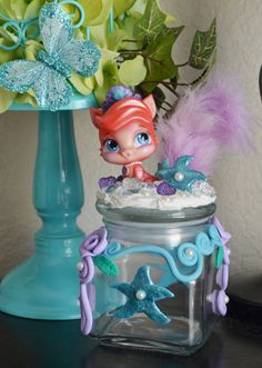 Adorable Princess Ariel pet decoden polymer clay by Reneeroxxshop, $22.00 Palace Pets, Clay Paint, Nail Stuff, Clay Figures, Ariel The Little Mermaid, Decoden, Polymer Clay Projects, Salt Dough, Diy For Kids