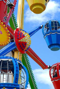 Colorful Amusement Park ride