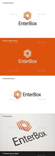 Enter Box  Logo Design Template Vector #logotype Download it here: http://graphicriver.net/item/enter-box-logo/10472322?s_rank=1418?ref=nexion