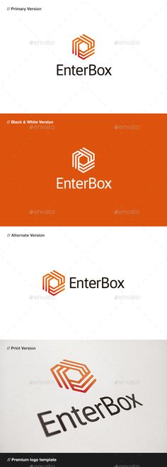 Enter Box Logo Template Vector EPS, AI #design #logotype Download: http://graphicriver.net/item/enter-box-logo/10472322?ref=ksioks