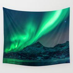 Aurora Borealis (Northern Lights) Wall Tapestry