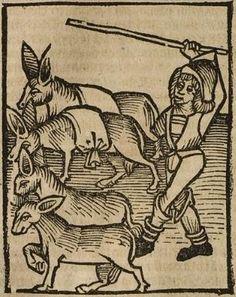 Hortus sanitatis Strassburg: Johann Prüss, not after 21 Oct. 1497 Inc iv 201 Folio 412 Medieval, Folk, Drawing Sketches, Drawings, 15th Century, Livestock, Tapestries, Renaissance, Witch