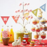 Celebrate birthdays in style with the help of this charming collection of décor and entertaining essentials that's perfect for a special someone on their big day. From cupcake wrappers and disposable dinnerware to tons of fun favors, this sweet set of handpicked items will help create memories that last for years after the candles have been blown out!