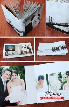 Wedding album/ Photo cover album www.albumsremembered.com All prices include design with unlimited revisions!