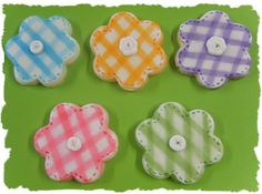 Gingham cookies by linliv46, via Flickr