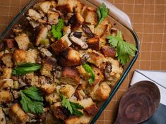 The Best Stuffing by Food Network Kitchen Stuffing Recipe Food Network, Best Stuffing Recipe, Stuffing Recipes, Food Network Recipes, Thanksgiving Stuffing, Thanksgiving Recipes, Holiday Recipes, Thanksgiving Holiday, Holiday Dinner