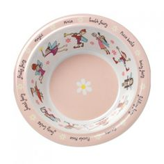 Pink Princess Melamine Plastic Childrens Dinner Bowl 16cm Girls Kids Food Dish