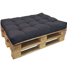 Coussins Lounge II pour palette europe de proheim - Coussins en différentes tailles pour sofa en palette pour extérieur et intérieur, résistant à la lumière, à la sueur et à la saleté, Couleur:Anthracite, Variable:Coussin d'assise: Amazon.fr: Cuisine & Maison