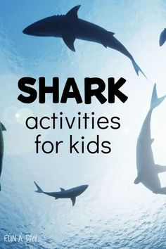 Summer is the perfect time for these shark activities! Incorporate them into your preschool ocean theme or just set them up as you see fit. There are literacy and math activities, arts and crafts, sensory play, and more, all with a shark theme! Shark Activities, Rhyming Activities, Educational Activities For Kids, Summer Activities For Kids, Science For Kids, Preschool Lesson Plans, Preschool Literacy, Kindergarten, Beach Fun Kids
