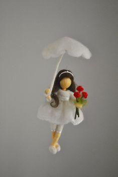 Chicas habitación decoración aguja fieltro colgante por MagicWool