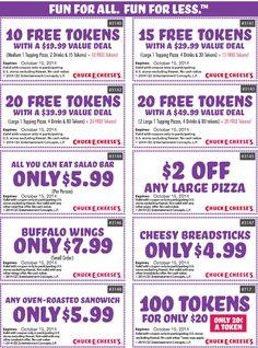 chuck e cheese coupons 2019 fairfield ca