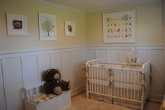 Put the white beadboard in our nursery, but had the wall above it painted in a beige color.