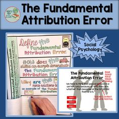 The Fundamental Attribution Error Activity Middle School Ela, High School, Psychology Student, Social Studies Classroom, Secondary Teacher, Study History, New Teachers, Sociology, Curriculum