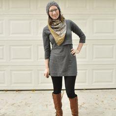 Sew Selfish: Jalie Nursing Tunic in Gray — Baste + Gather