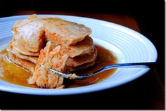 Carrot Cake Pancakes (and the vanilla honey butter intrigues me, too)