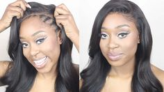 How To Make A Lace Frontal Wig Tutorial |  No Hair out , No Glue - YouTube