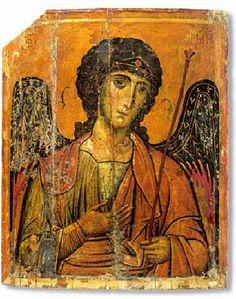 """Архангел Михаил. Икона от манастира """"Св. Екатерина"""" в Синай."""