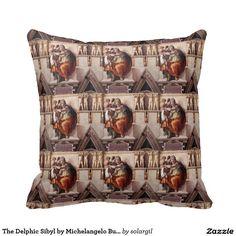 The Delphic Sibyl by Michelangelo Buonarroti 1509 Throw Pillow