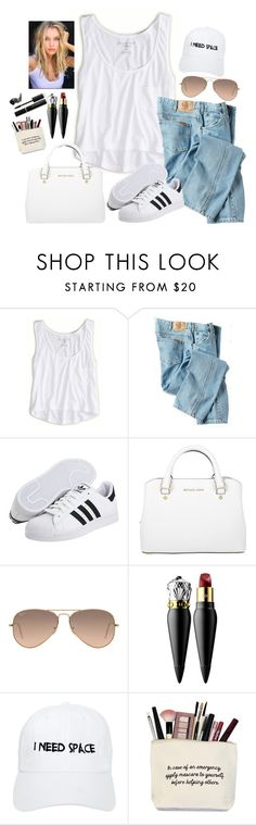 """""""If i could fly i'd be right back home to you"""" by youngsmile ❤ liked on Polyvore featuring American Eagle Outfitters, Dickies, adidas Originals, MICHAEL Michael Kors, Ray-Ban, Christian Louboutin, Nasaseasons and Elizabeth Arden"""