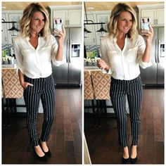Business Professional Outfit // Work Wear // Work Outfit // Summer Work Outfit // Summer Fashion interview outfit ideas for women Casual Work Outfits, Mode Outfits, Work Casual, Outfit Work, Casual Work Clothes, Summer Business Casual Outfits, Doctor Work Outfit, Fall Work Outfits, Casual Work Outfit Winter