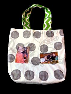 #CraftShout0401 Custom tote bag MADE TO ORDER Reversible by DellaRoseSewnDesigns