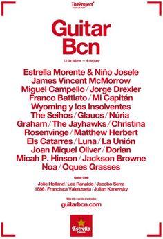 Guitar BCN 2015, Festival de Guitarra de Barcelona. Des del 13 de febrer fins al 4 de juny