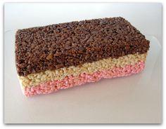 neopolitan rice krispie treats