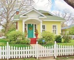 ..Cute yellow cottage